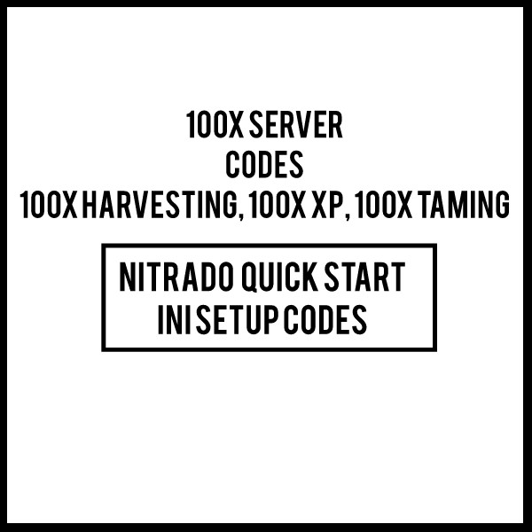 100x BOOSTED NITRADO ARK PS4 server INI CODES