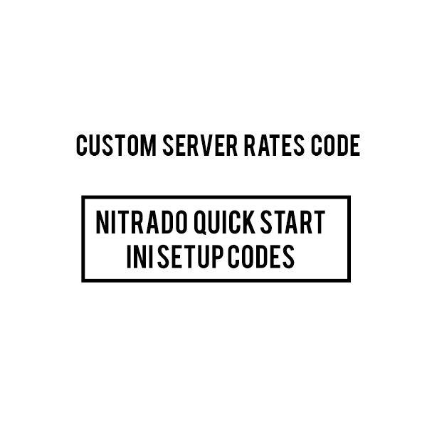 CUSTOM BOOSTED NITRADO ARK PS4 server INI CODES