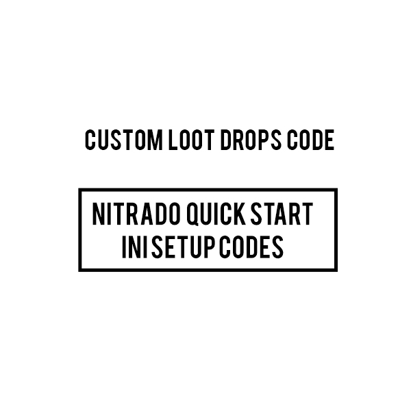 CUSTOM BOOSTED NITRADO ARK PS4 modded loot drops INI CODES