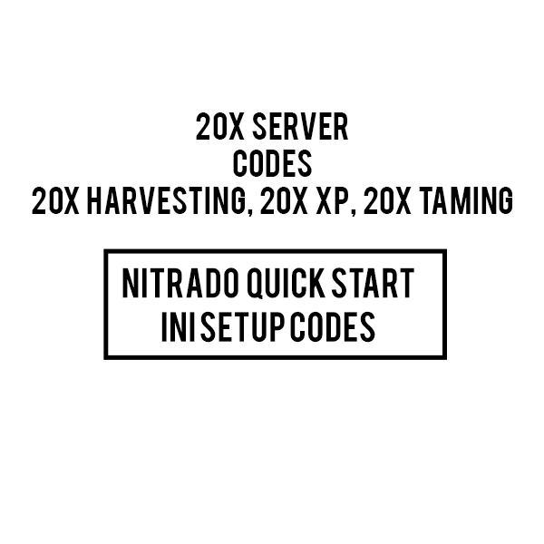 20x BOOSTED NITRADO ARK PS4 server INI CODES